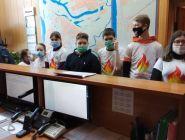 Юные пожарные из Савватиевской школы посетили передовую часть Котласского пожарно-спасательного гарнизона