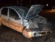 Устроив аварию, водитель скрылся с места ДТП