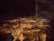 В Котласском районе сгорел ангар с пиломатериалами