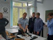 В Котласе стражи порядка рассказали выпускникам об особенностях службы в органах внутренних дел на транспорте
