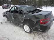 Два автомобиля съехали в кювет в Котласском районе