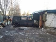 В Вычегодском огнем поврежден микроавтобус