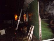 В Котласе вновь горел дом