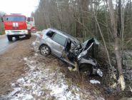Женщина-водитель пострадала в ДТП под Котласом