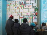 В Котласском районе открылась передвижная выставка юных художников на противопожарную тематику