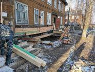Сольвычегодск: На ул.Октябрьской,4 все жильцы вернулись в свои квартиры, но капремонт продолжается