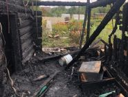 За минувшие дежурные сутки в Архангельской области огнем повреждено две частные бани