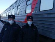 Обеспечена охрана общественного порядка первого туристического поезда сообщением