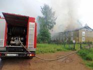 Из-за ветра в доме случились короткое замыкание, а потом пожар